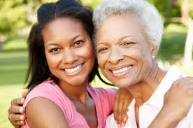 caregiver with older loved one